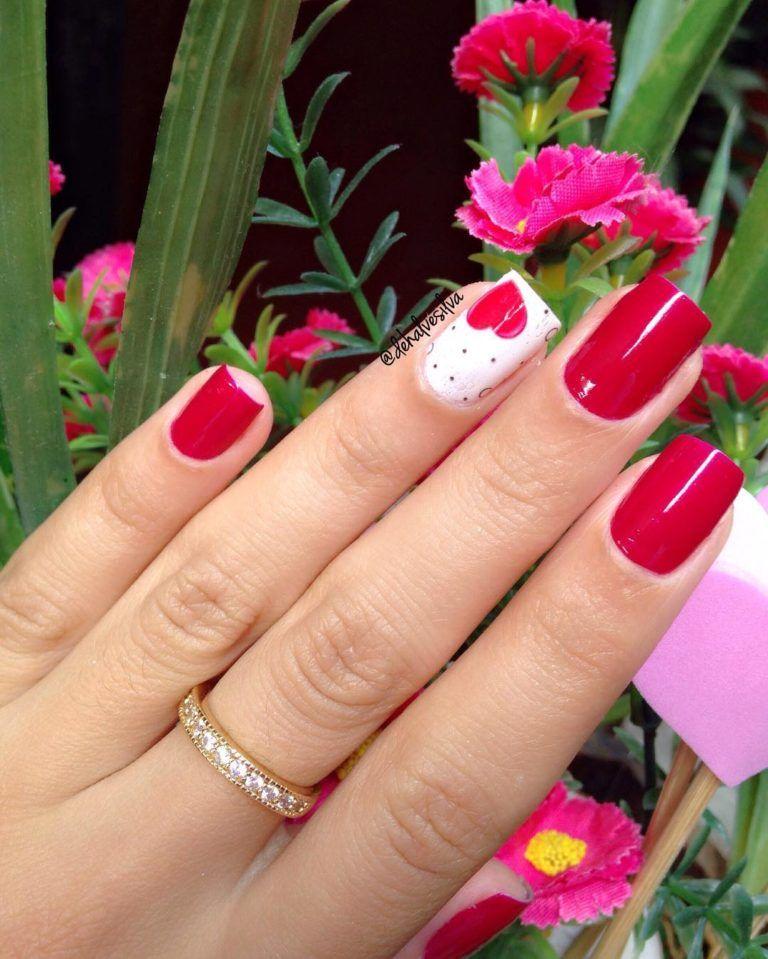 27 Unhas Decoradas Com Corações Muito Lindas Uñas En 2019 Nails