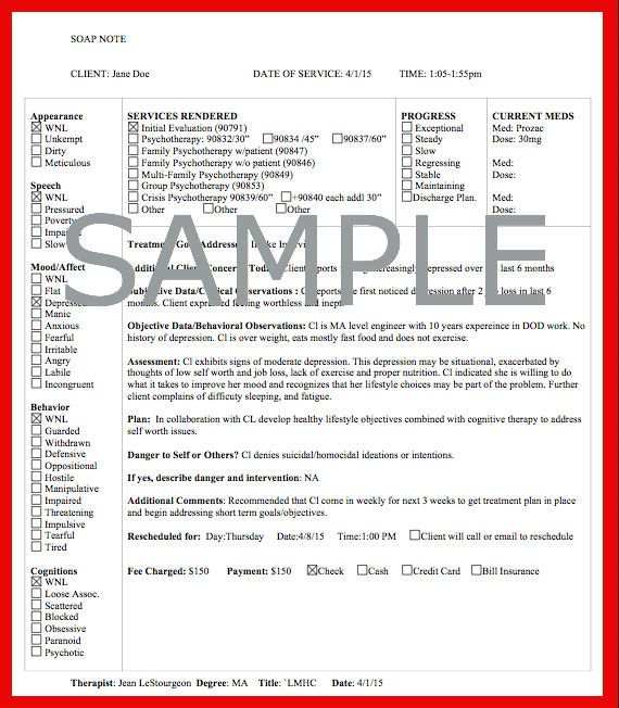 Social Workers Sample Soap Note Click Here HttpWww