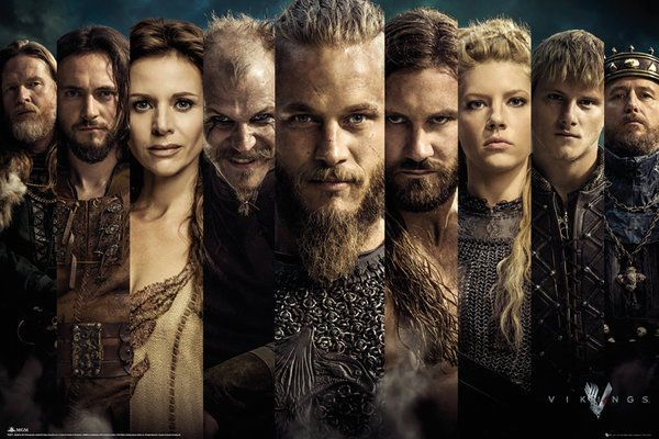 VIKINGS - TV SHOW POSTER / PRINT (CHARACTER GRID / THE CAST) (SIZE: 36  x 24 ) 4250795867944 | eBay