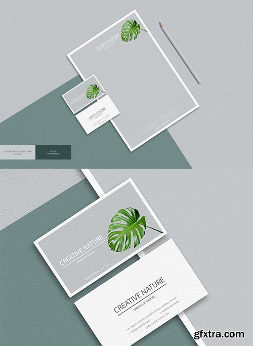 Psd mock up creative nature letter head and business card gfxtra psd mock up creative nature letter head and business card reheart Image collections