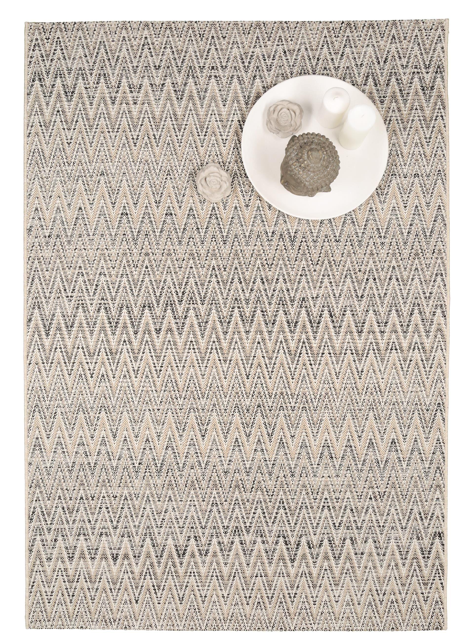benuta teppiche moderner designer flachgewebe teppich vora zick zack beige 160x230 cm. Black Bedroom Furniture Sets. Home Design Ideas