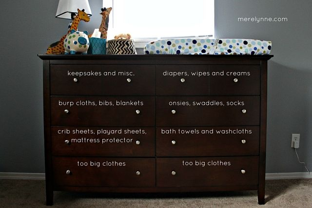 How To Organize Your Baby S Dresser More
