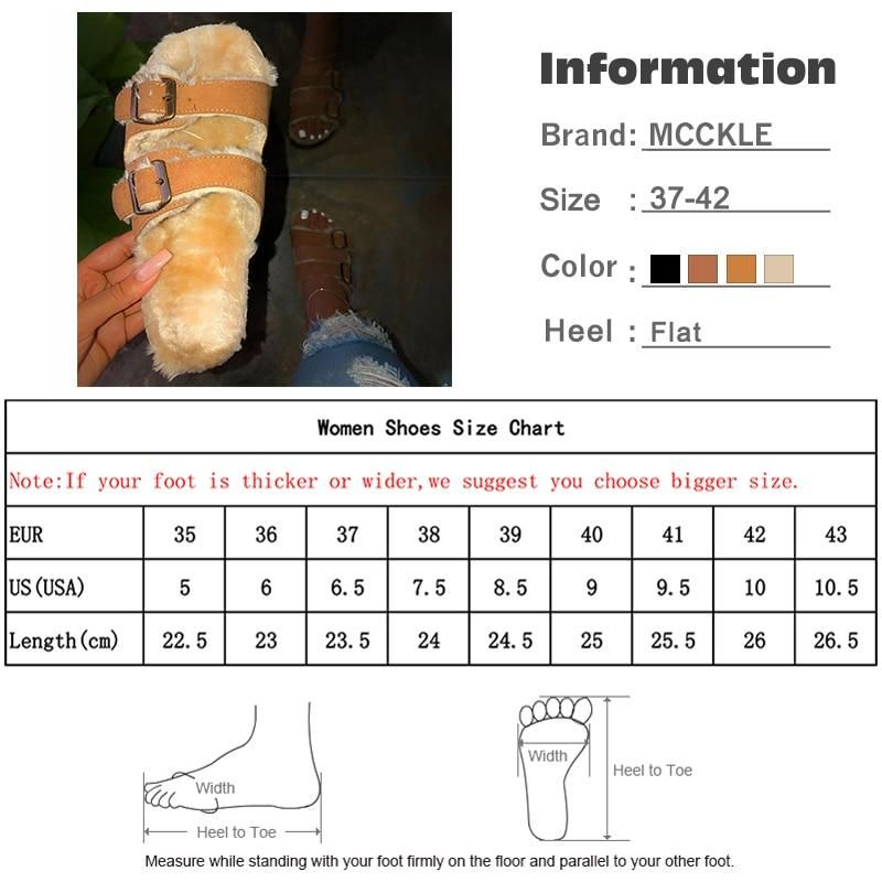 Photo of Womens Leopard Furry Plush Slippers Autumn Women Sexy Buckle Strap Flat Woman Casual Comfortable Fem
