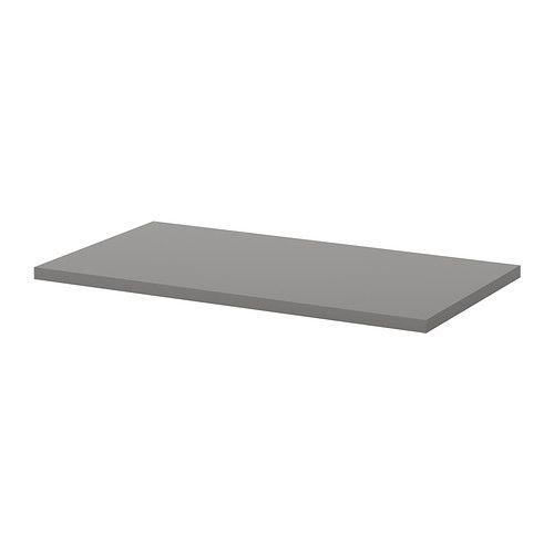 ikea linnmon tischplatte grau vorgebohrte l cher f r die beine leichte montage. Black Bedroom Furniture Sets. Home Design Ideas