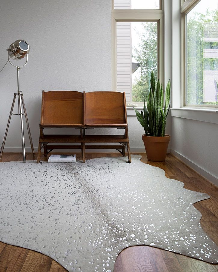 Loloi Ii Bryce Bz 09 Stone Silver Area Rug Home Decor Faux Cowhide Area Rug Alexander Home