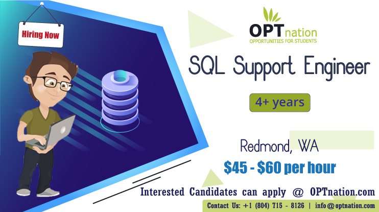 SQL Support Engineer in 2020 International students