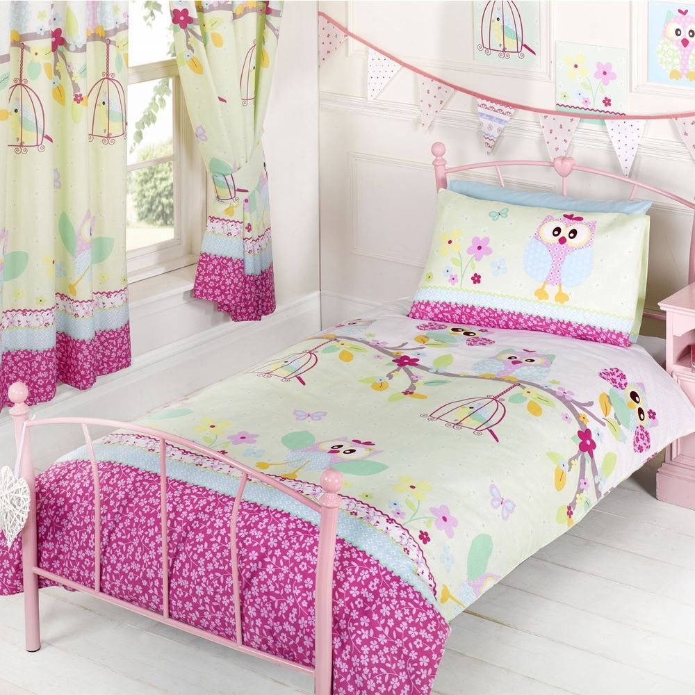 Owls Twit Twoo Single Duvet Cover Set New Girls Bedding Owl Colorful Bedroom Decor Elegant Bedroom Decor Kids Bedroom Sets