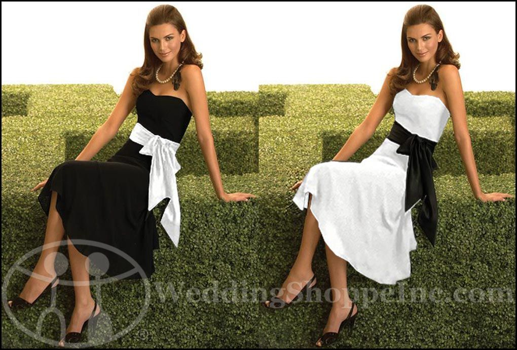 My Wedding Chat Blog Archive Black And White Bridesmaid Dresses From The Dessy Dress Collection