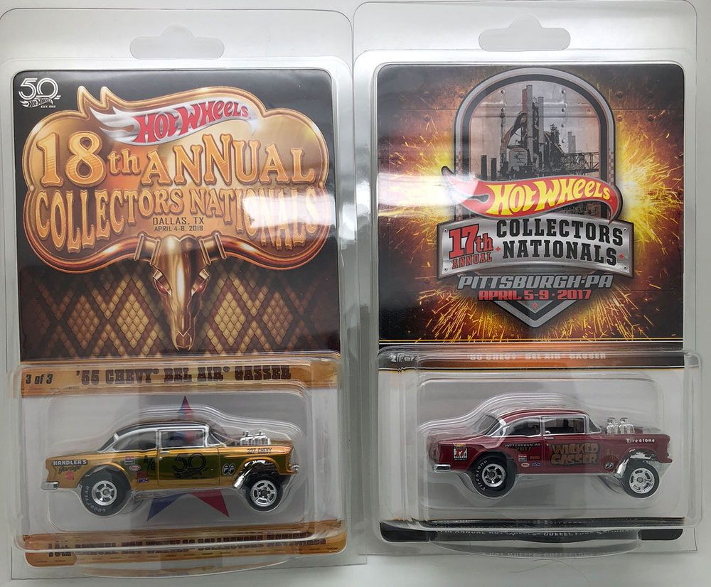 HOT WHEELS /'55 CHEVY BEL AIR GASSER LOT OF 2 DIFFERENT