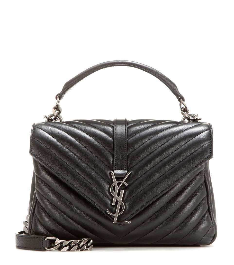 Saint Laurent Classic Monogram Quilted Leather Shoulder Bag In Eero Modesens Leather Shoulder Bag Quilted Leather Monogram Bag