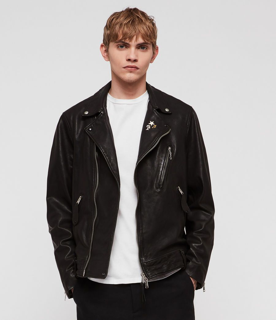 ALLSAINTS US: Mens Vice Leather Biker Jacket (black