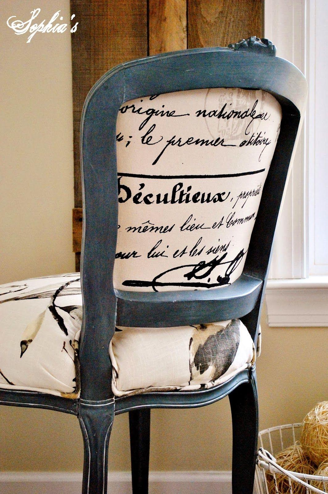 Dekor Mobel – Französische Stuhl Reupholstery Makeover und Tutorial ...