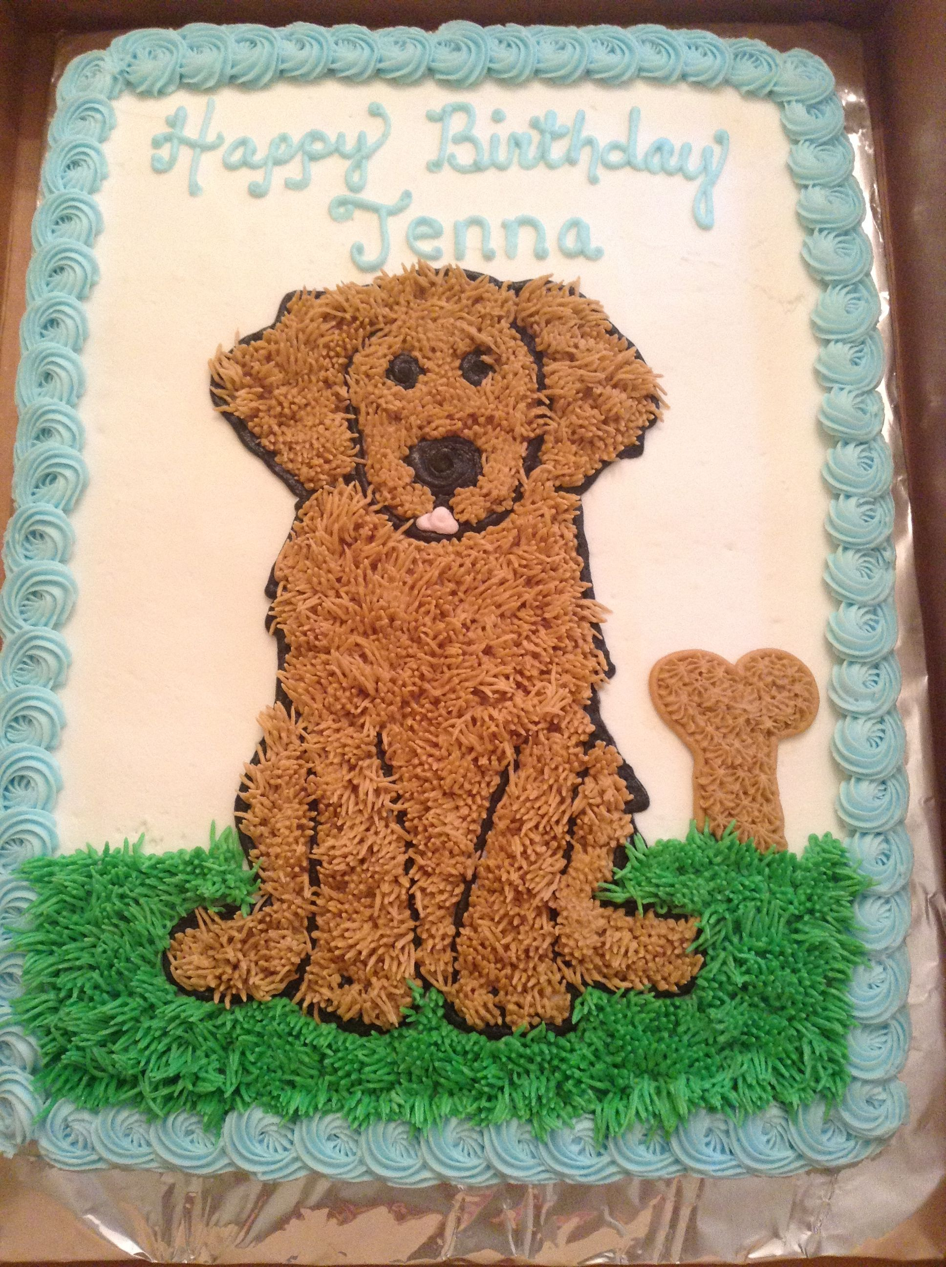 Golden Retriever Dog Cake With Images Dog Cakes Puppy
