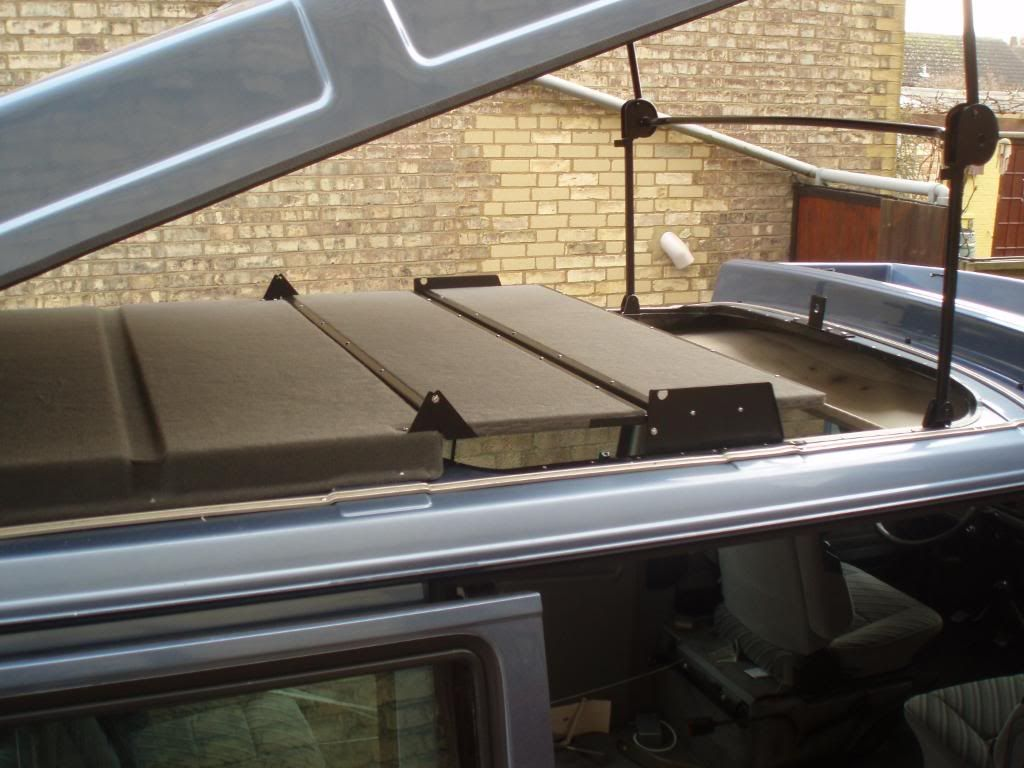Detail Of Folding Roof Bed Vw Syncro Build Truck