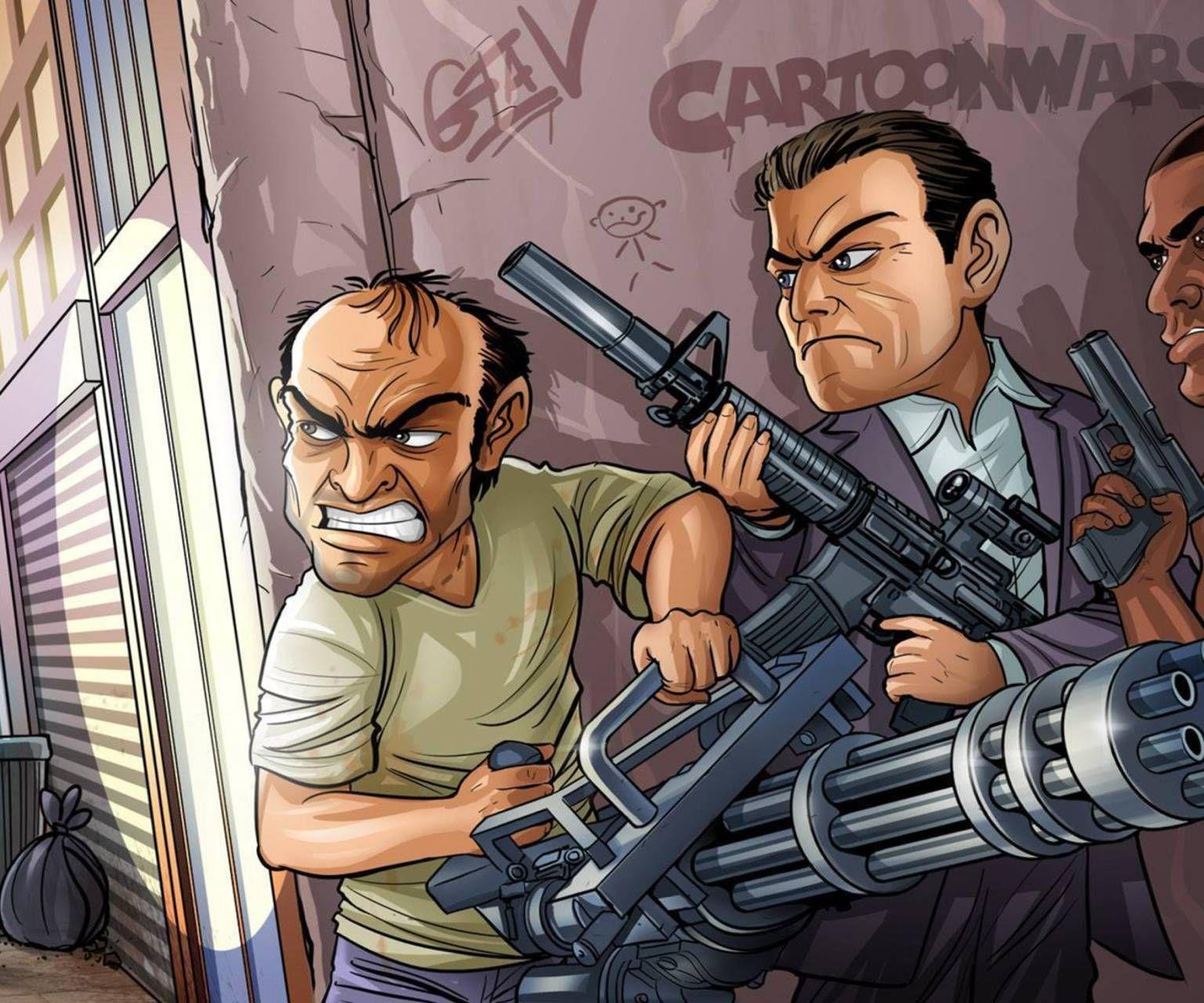 Download gta cartoon wallpaper by __JULIANNA__ 3d Free
