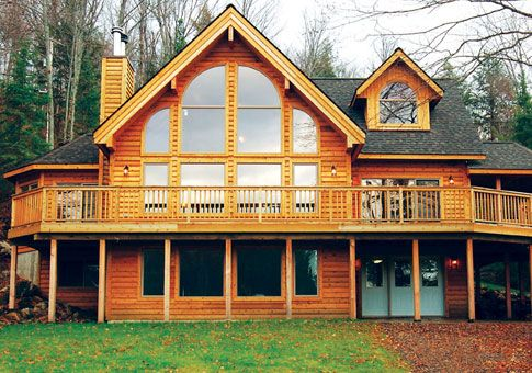The Retreat home plan by Linwood Homes is a post and beam design ...