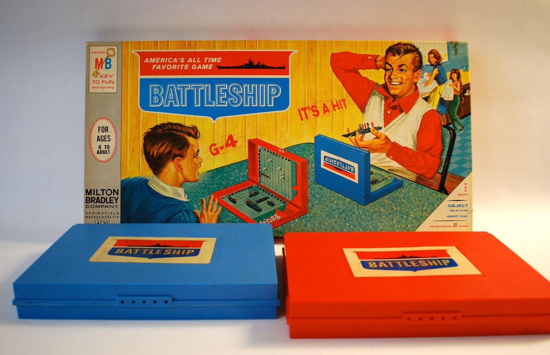 Vintage Battleship Board Game By Milton Bradley Etsy Battleship Game Board Games Classic Games