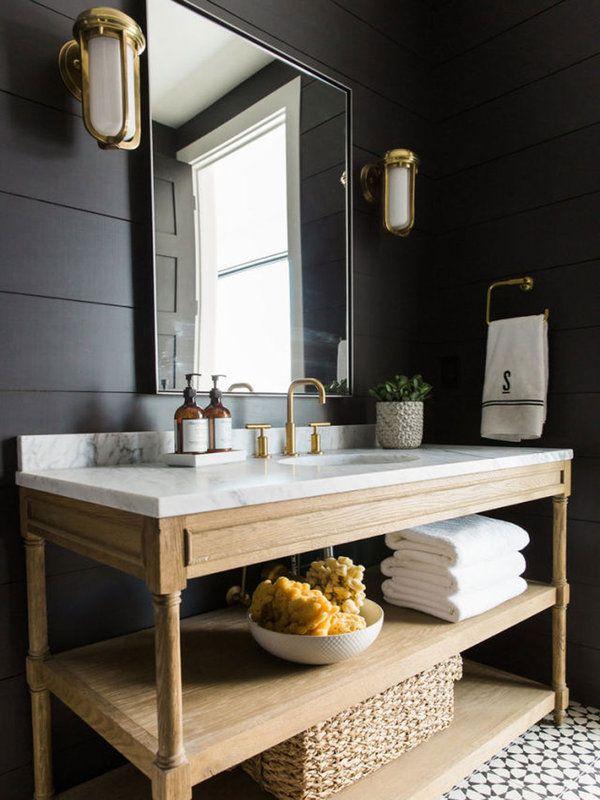 Pasate Al Lado Oscuro Modern Farmhouse Bathroom Modern