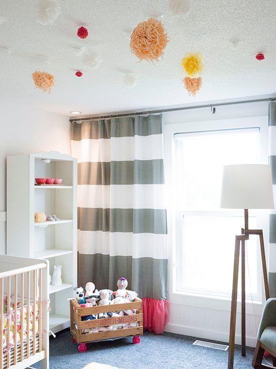 cortinas gris para bebes