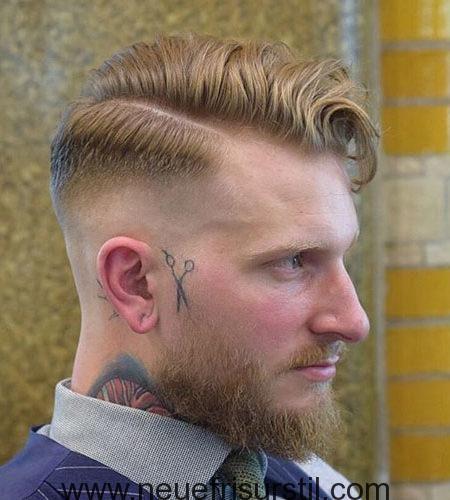 Seitenscheitel mit BART Style Männer Frisuren