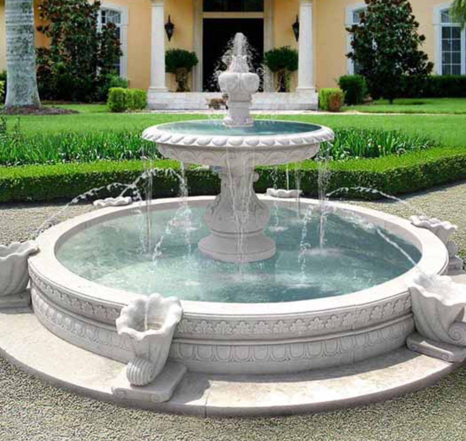 outdoor hand carved garden stone fountains for