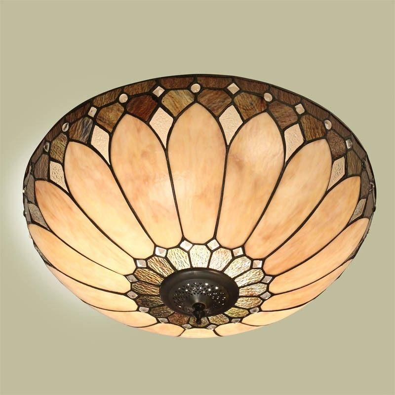 Plafoniera Led Tiffany.Plafoniera Tiffany Gialla Chiara Da 50 Cm Lampy Witrazowe
