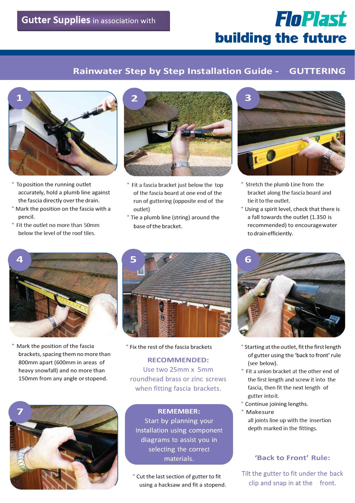Pvc Gutter Installation Instructions How To Install Gutters Pvc Gutters Installation