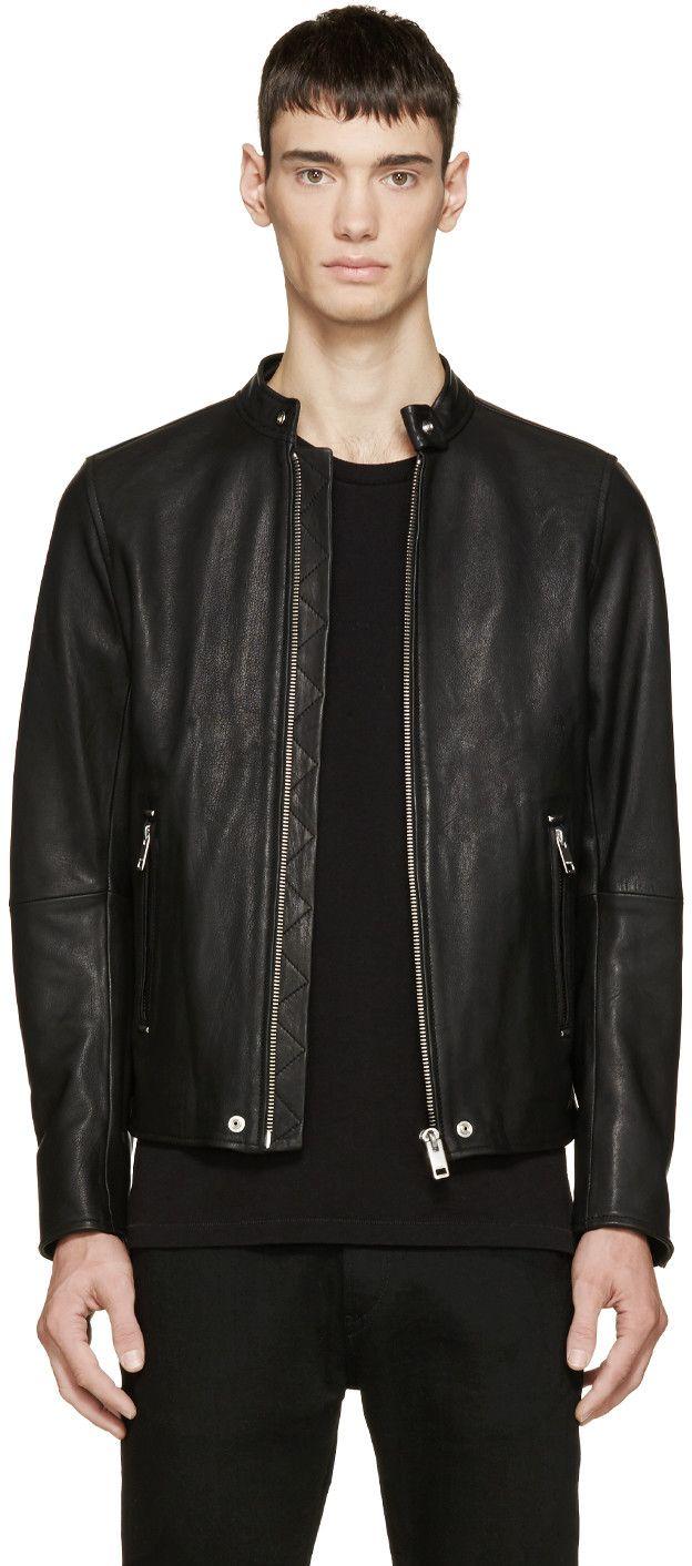 f675304d5 DIESEL Black Leather L-Roshi Jacket. #diesel #cloth #jacket | Diesel ...