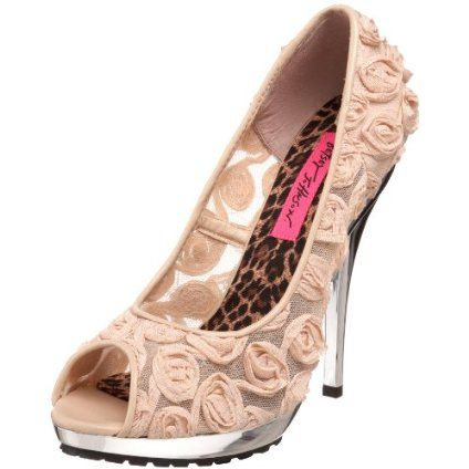betsey johnson rose wedding shoes, the sole is perfect to dance the ...