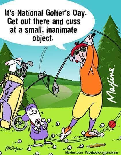 Maxine on golfing