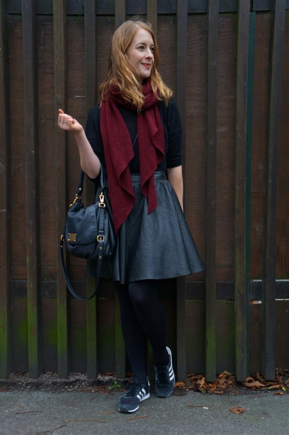 Black and Burgundy. See more here: http://www.kathrinerostrup.dk/2013/11/black-and-burgundy/