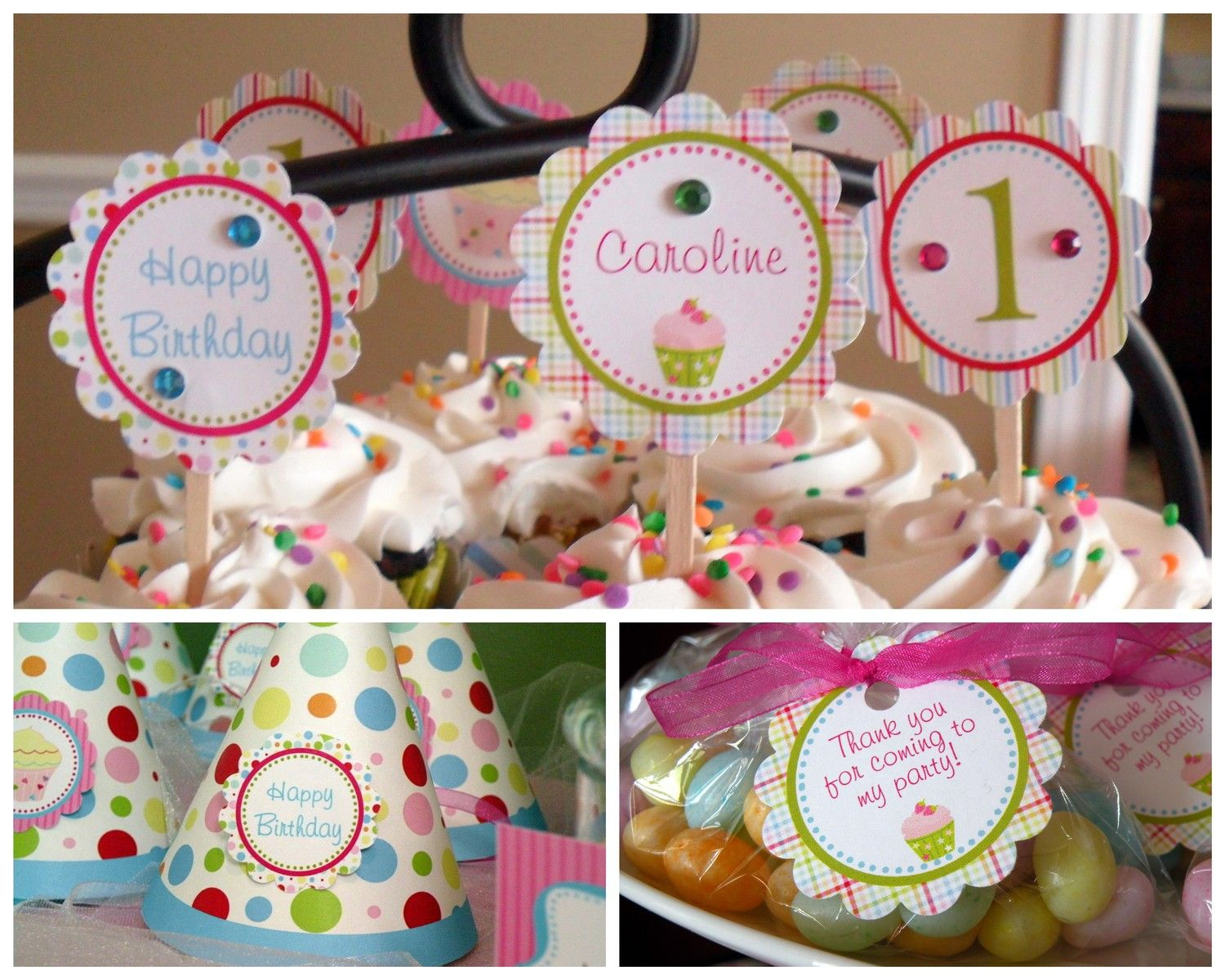 Cupcake Theme Essentials Birthday Party Package Girl DIY Printable