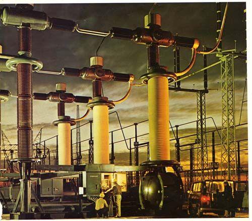 #GE's 500,000-volt air-blast circuit breaker operating in ...
