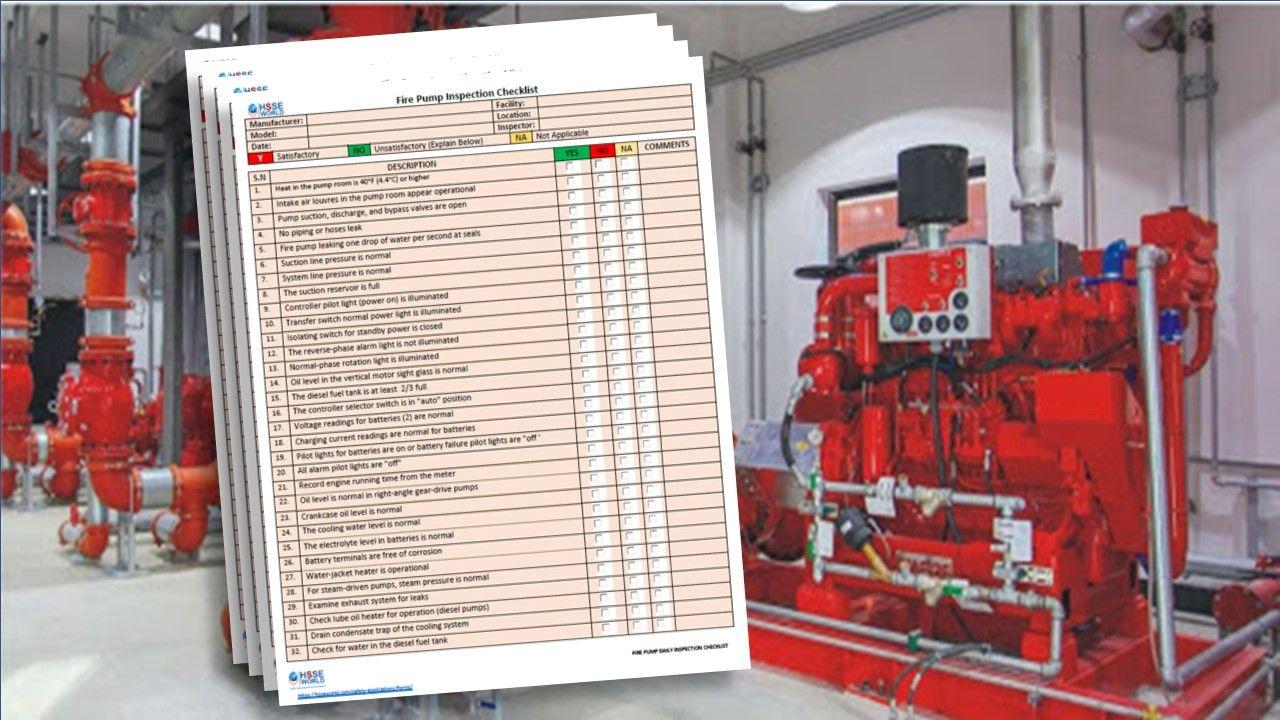Fire Pump Daily Inspection Checklist Download Establish a