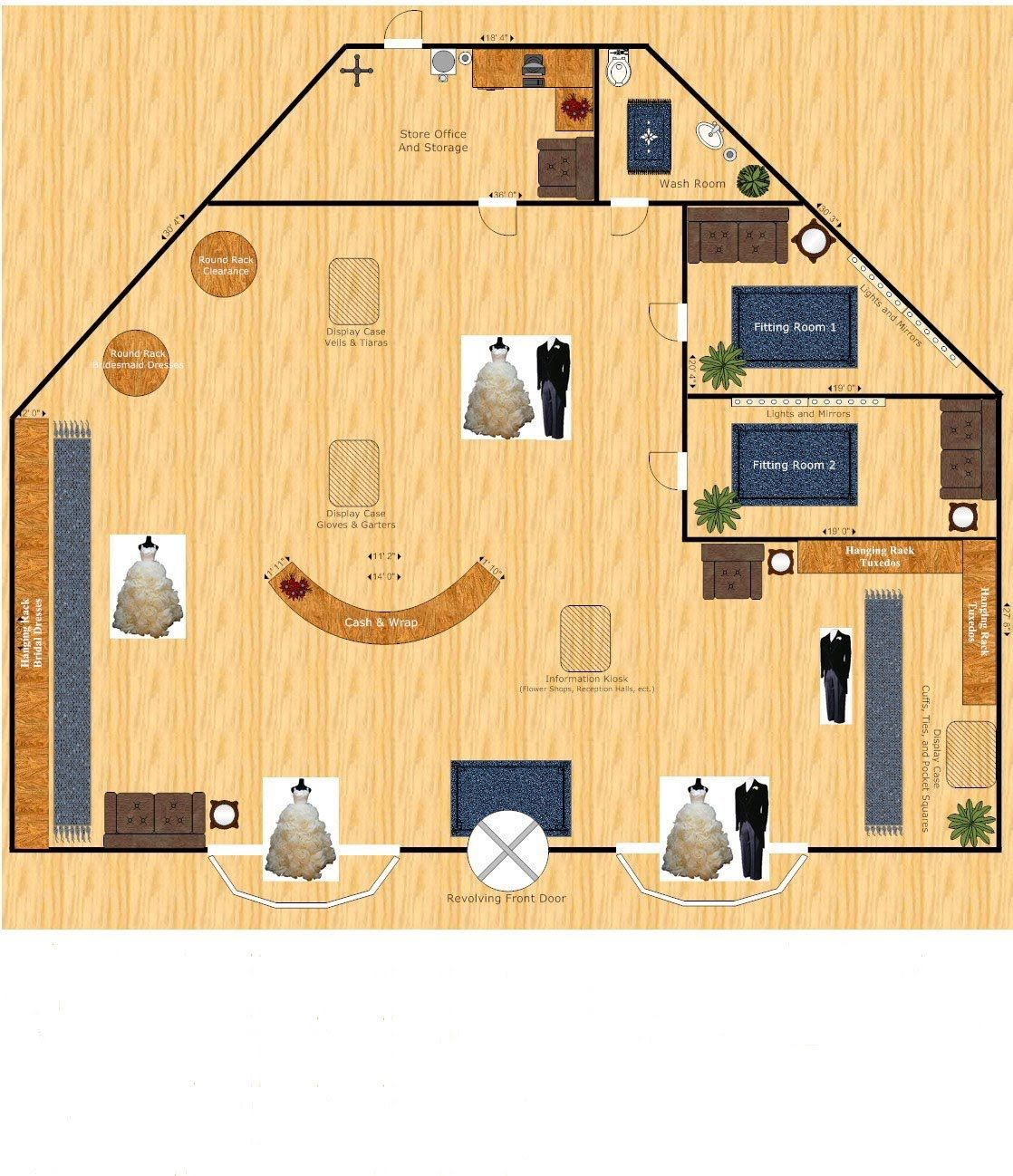 Bridal Boutique Floor Plan Interior Design