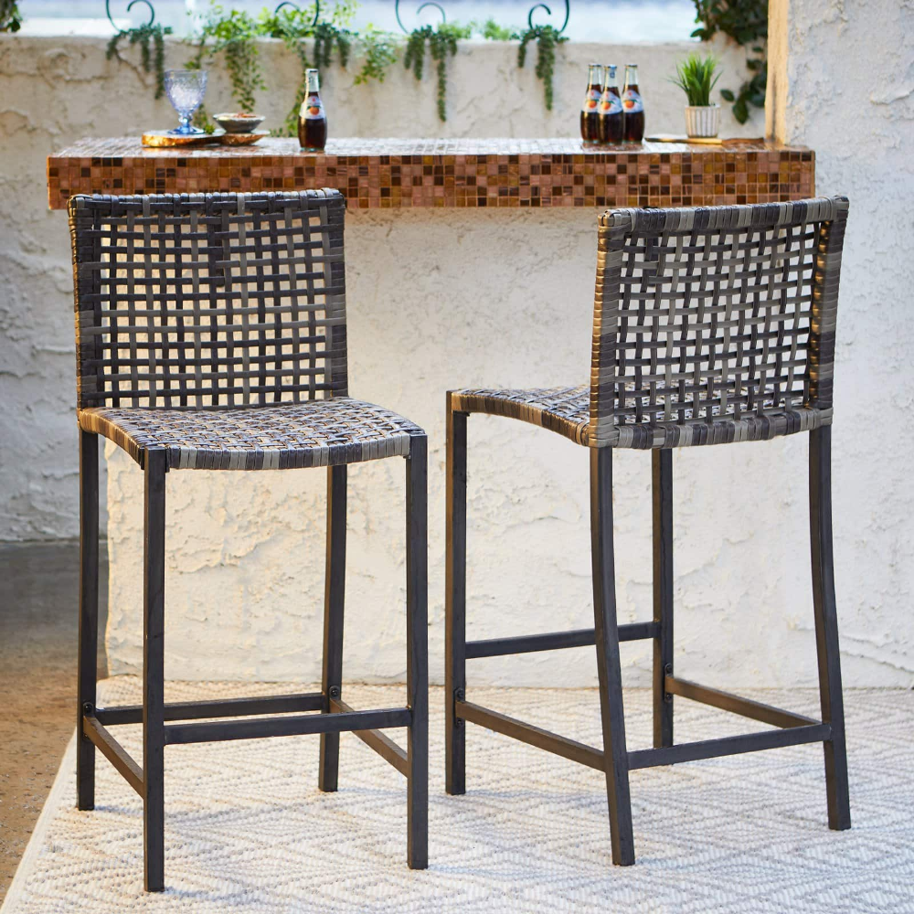 Belham Living Eastport Bar Height Outdoor Bar Stool Set