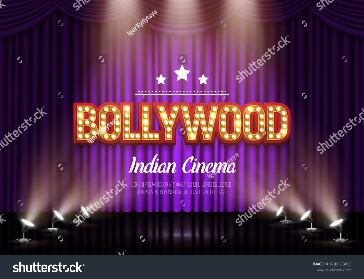 Bollywood indian cinema movie banner or poster with