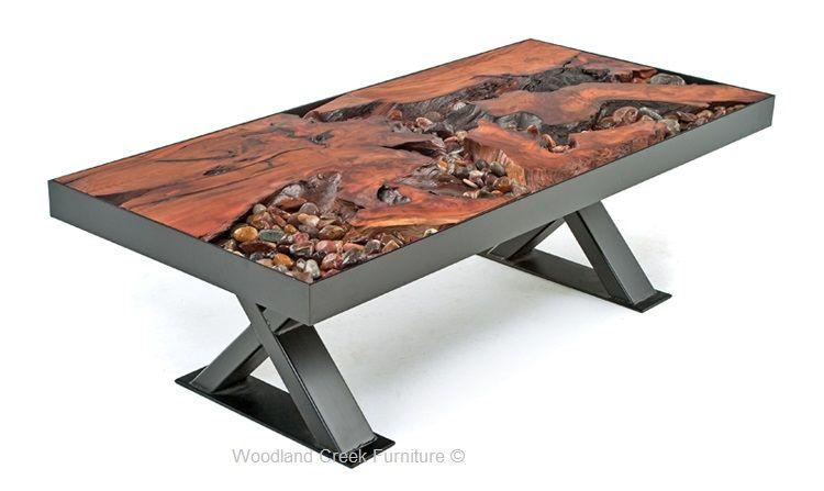 a river runs through it coffee table | rustic log furniture