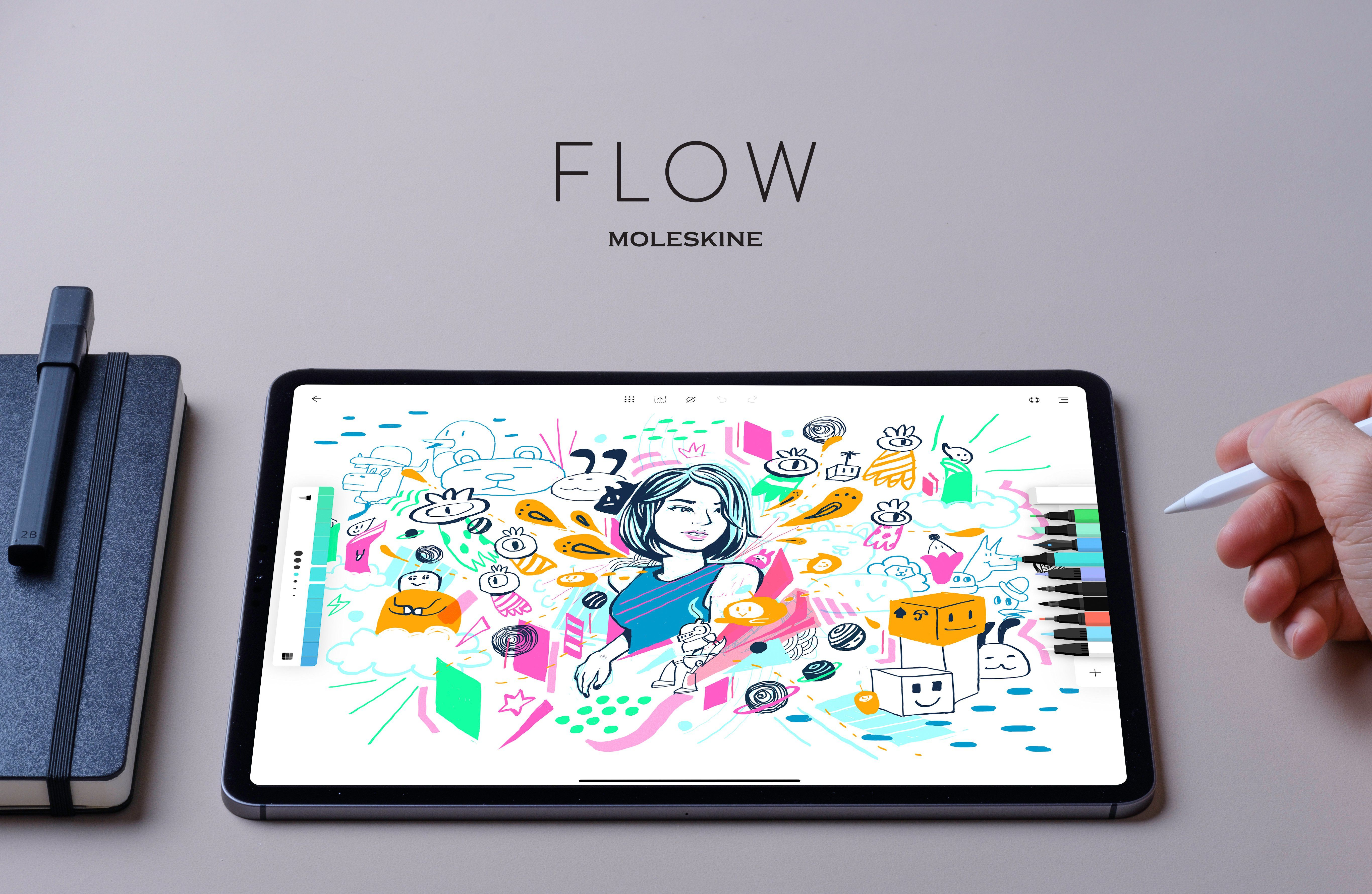 Flow by Moleskine Brings the Notebook Experience to Your