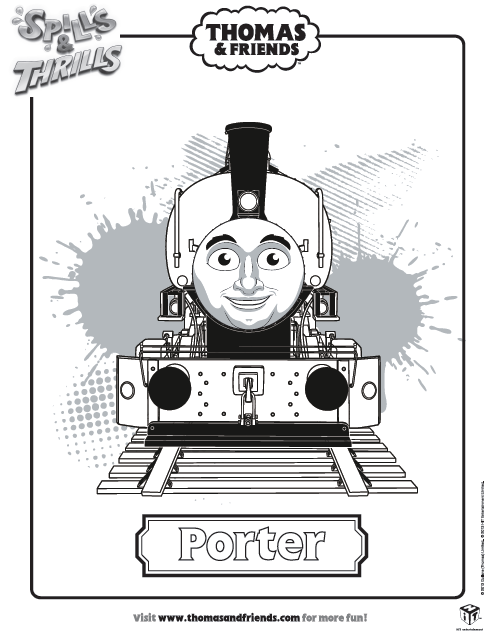 Thomas & Friends, Porter colouring in picture. Find lots more ...