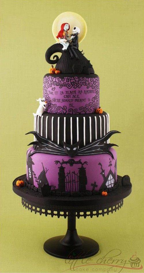 Nightmare Before Christmas wedding cake by TinyCarmen | Amazing ...