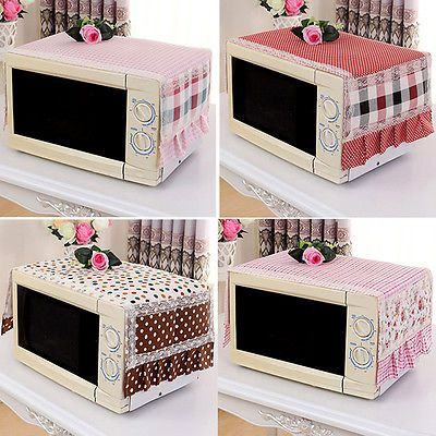 Floral Print Microwave Oven Dust Cover