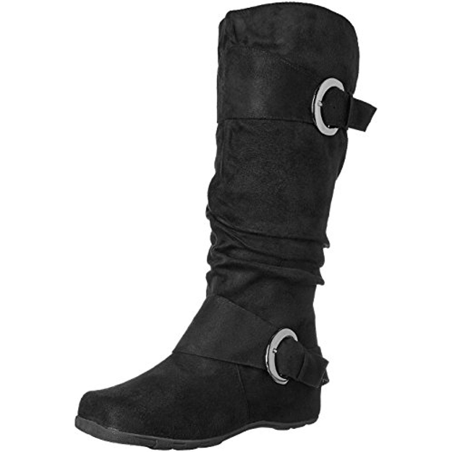 Women's Augusta-02 Slouch Boot Black 6 M US