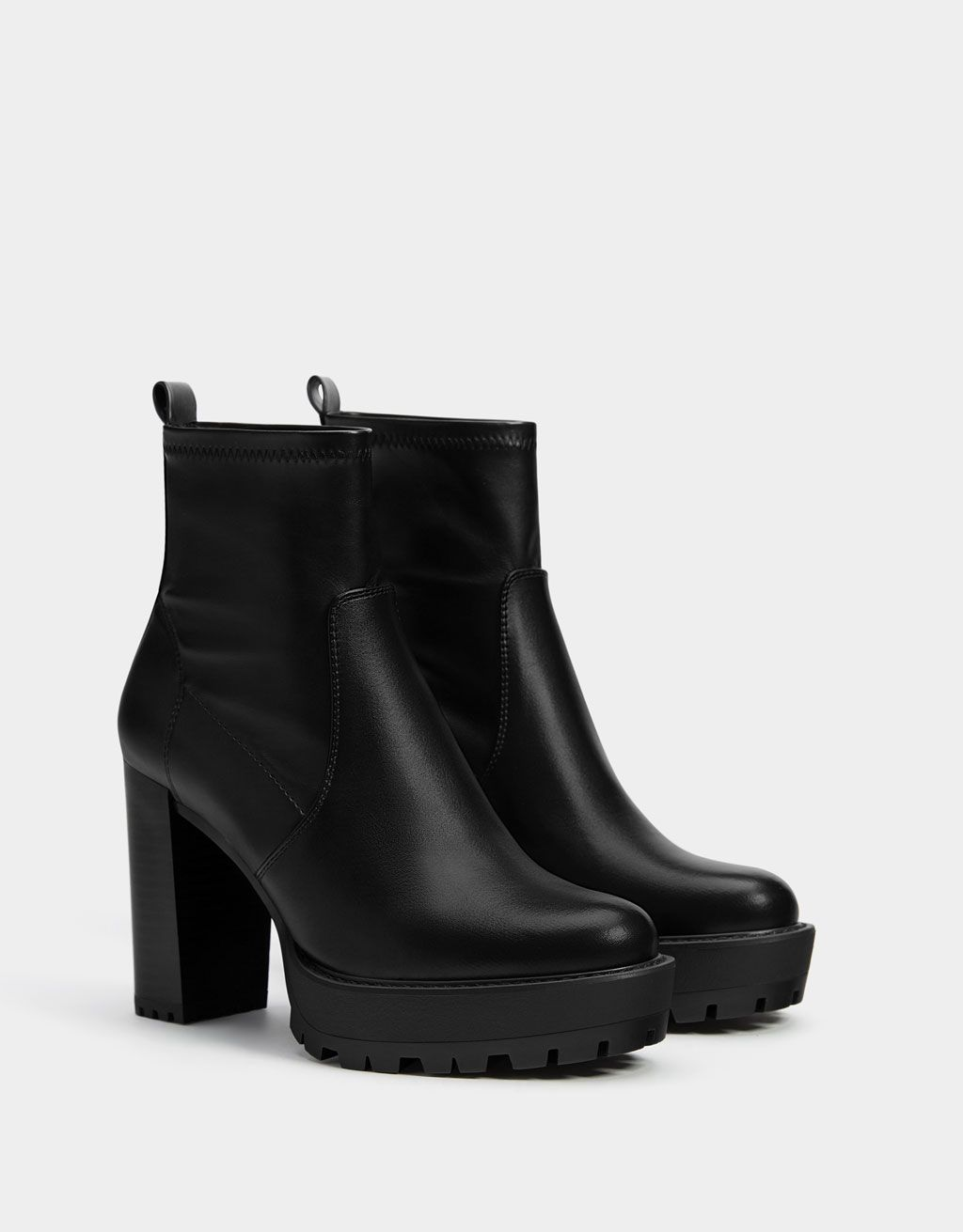 6b0789c94fa Platform high-heel ankle boots in 2019 | shoes | Shoe boots, Boots ...