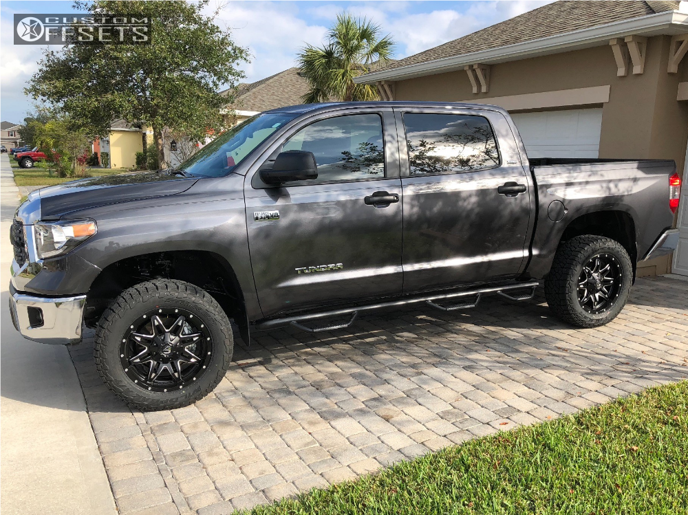 1 2018 Tundra Toyota Rough Country Leveling Kit Fuel Lethal Machined Black Toyota Tundra Tundra Toyota Tundra Trd