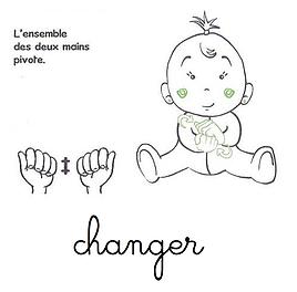 Changer La Couche Langue Signes Bebe Langage Des Signes Bebe Signes Bebe Langue Des Signes