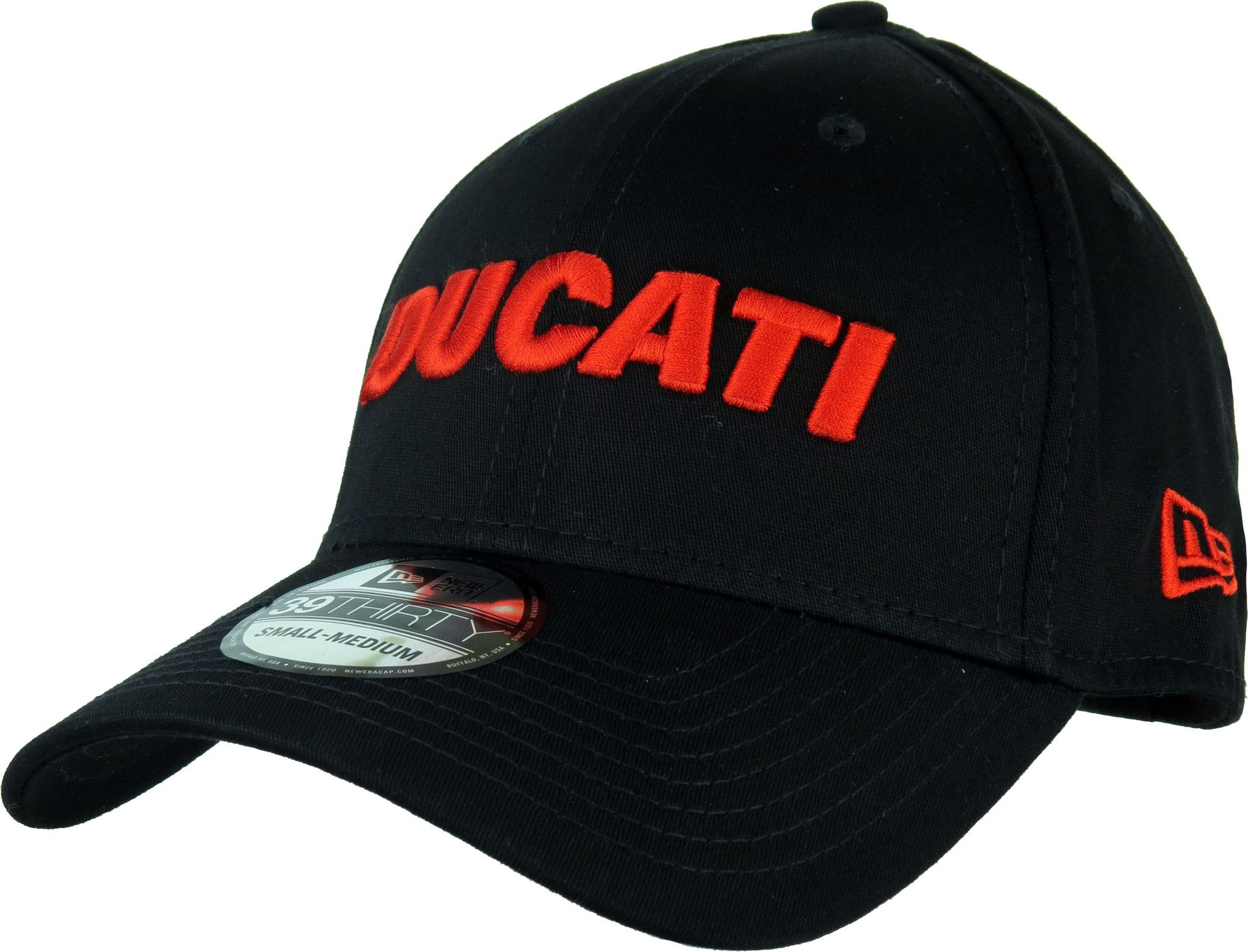 32c1cd8d Ducati New Era 39Thirty Stretch Fit Cap. Black, with the Red DUCATI front  title