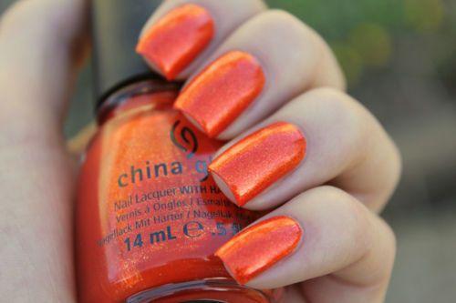 China Orange Nail Art