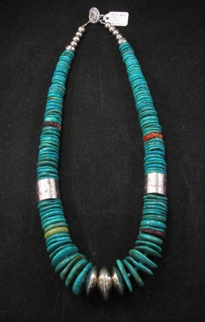 Photo of Nestoria Coriz Santo Domingo ~ Kewa ~ Blue Gem Turquoise Necklace