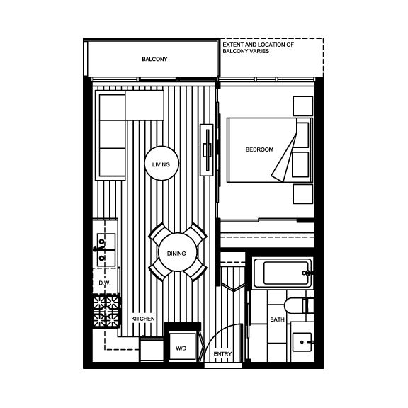 Micro Living See The Smallest New Condo Suites On The Market In Canada S Big Cities Rhb Magazine Small Apartment Plans Studio Floor Plans Condo Floor Plans
